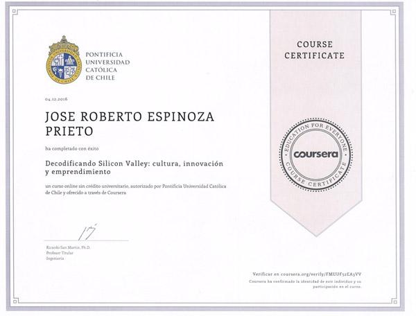 certificado de coursera