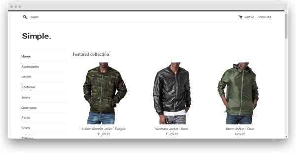 ejemplo tienda shopify