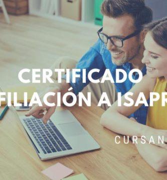 certificado de isapre