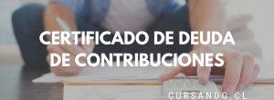 certificado de deuda de contribuciones
