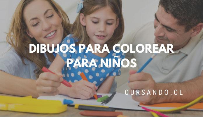 dibujos para colorear niños chile